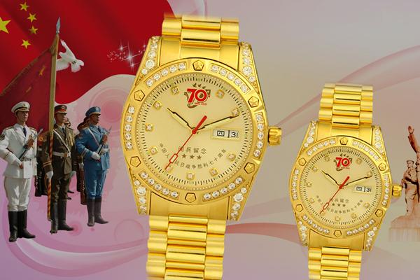 定制纪念手表,广州武警部队选择手表定制厂家